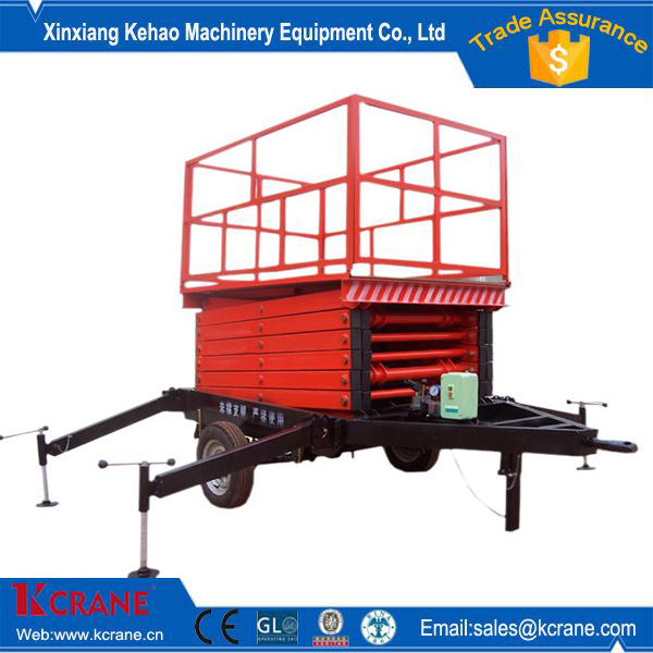 Self Propelled working lift stand scissor type with wheel and stand