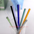 wholesale straight Glass Straw / borosilicate glass drinking straw