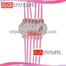New style promotional decorative drinks party straw striped acrylic straws