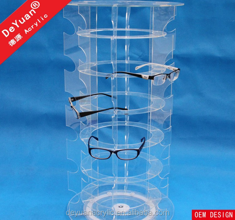 Sunglass Case For Multiple Eyeglass Holder Rotating