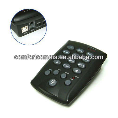 USB RJ11 dial pad, home / office telephone, headset phone