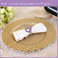 17765hot sale handmade cheap wedding underplates wholesale