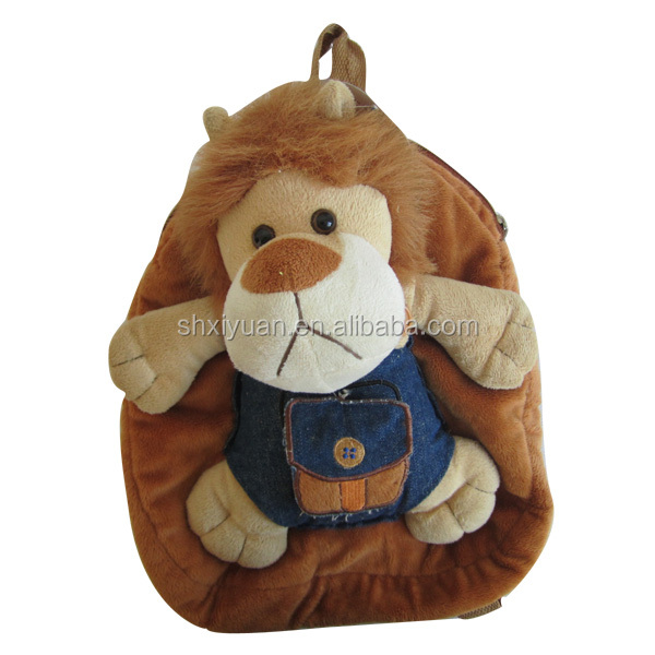 Stuffed animals bags kids child plush lion backpacks animal shaped backpacks