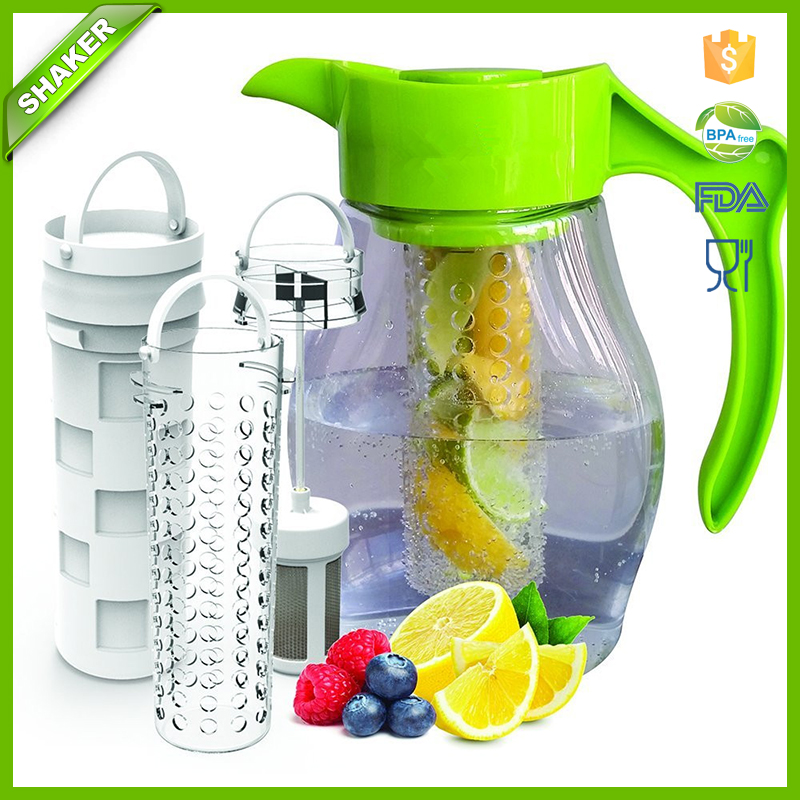 Fruit & Tea Infusion Pitcher <strong>Water</strong> & tea infuser jug includes 3 infusers for fruit, tea and ice