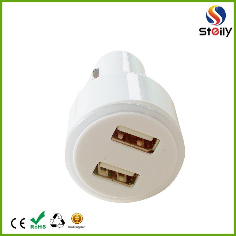 Cheap Wholesale Colorful MINI Dual USB Car Charger