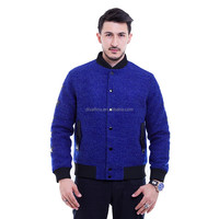 2016 Manufacturing Factory of Men's Cashmere Wool Varsity Jacket