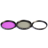 Camera lens Filter kit UV+CPL+PLD for Canon Digital SLR Cameras