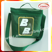 customized cute small 420D polyester heat transfer printing PP webbing shoulder/handle cooler/ice bag