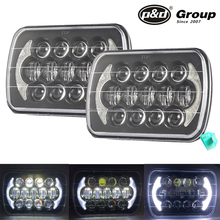 Trade assurance 7x6 led headlight kit led headlight sealed beam replacement 105W 7 inch led headlight for jeep