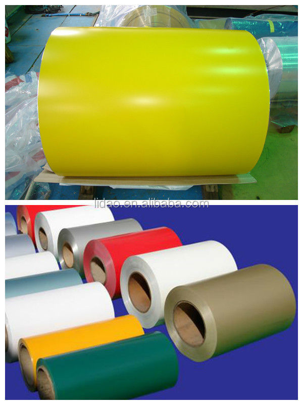 PE/PVDF color coated aluminum coil 1100 14 for decoration