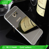Gold color mirror mobile phone case for samsung galaxy s6 edge plus case
