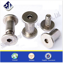 custom made lathe machining steel male female screw