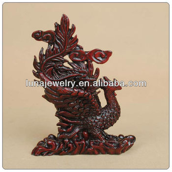 Fabulous Hong Tze Collection phenix statue red resin statue