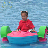 Colorful and animals style kids water boat paddle boat electric inflatable pedal boat