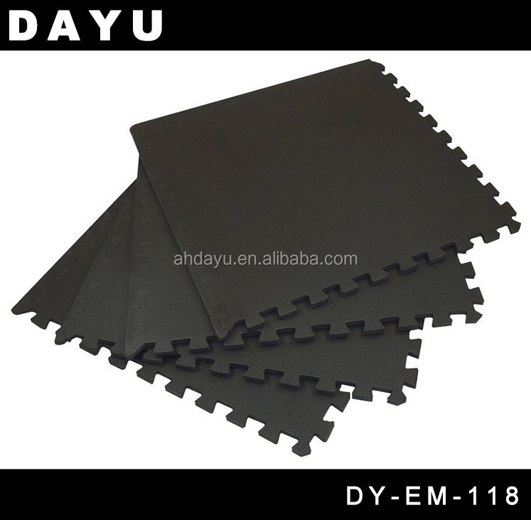 "Charcoal Gray 24""x24""x0.47"" Anti-Fatigue Interlocking EVA Foam Exercise Gym Padded Floor Mat"