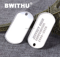 2016 BWITHU Stainless steel blank custom dog tag wholesale