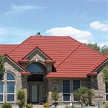 long span exterior wall stone coated metal roof tile