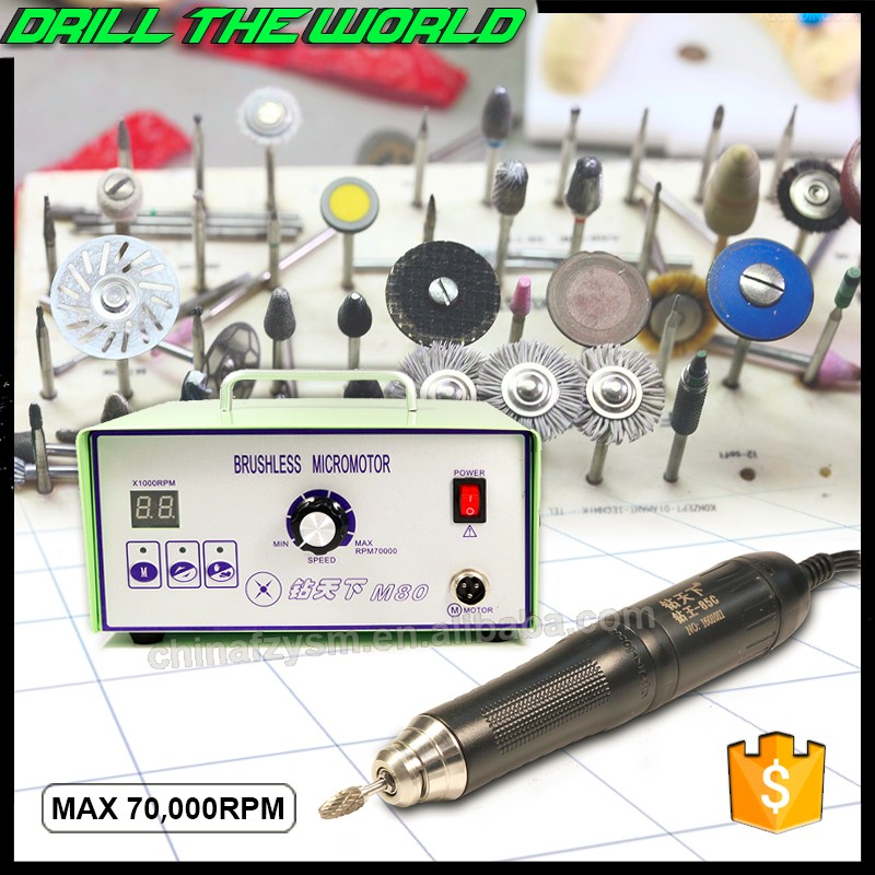 Powerful torque 70000rpm brushless rotary micro motor jewellery stone setting general polishing system