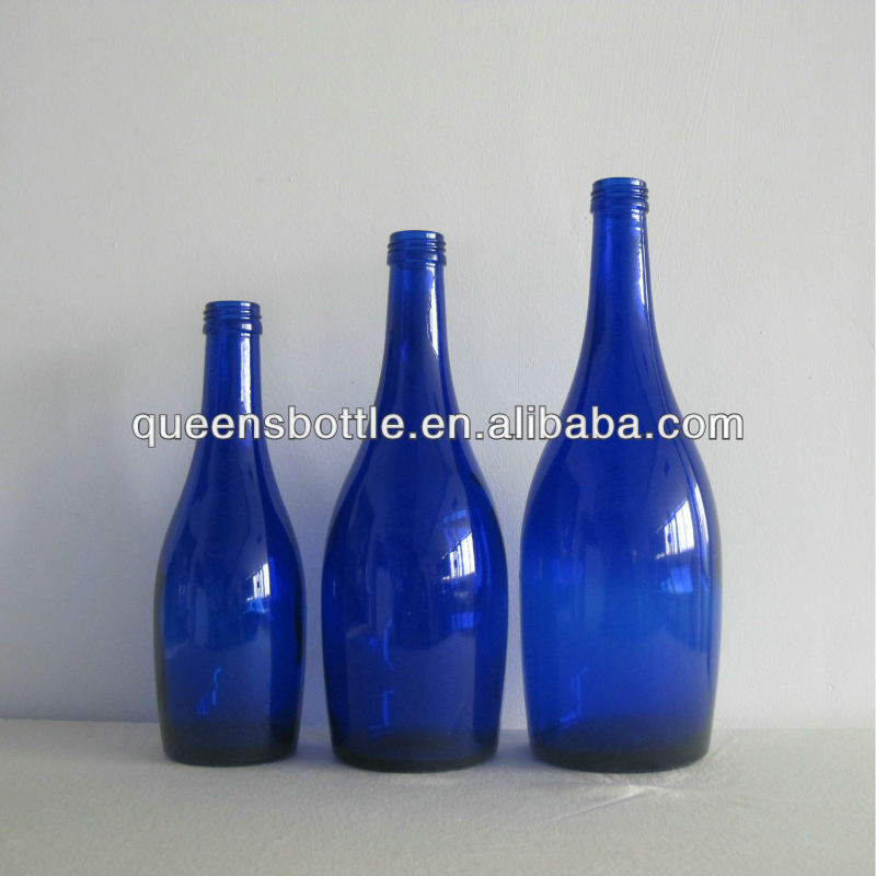 330ML, 500ML, 750ML COBALT BLUE GLASS MINERAL WATER BOTTLES