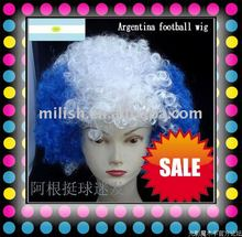 2012 World Cup Football Sports fans Argentina flag cheer team Wig Party FBW-0013