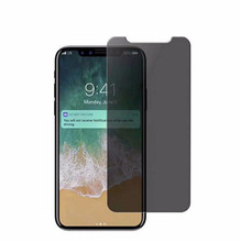 In stock 2.5D privacy tempered glass film for iPhone X, high quality Anti-spy protector