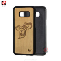 New Arrival Hard Wood Case For Samsung Galaxy S8 Bamboo Blank Wood Mobile Phone Case
