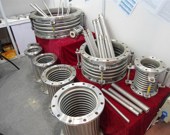 Flanged stainless steel expansion bellows