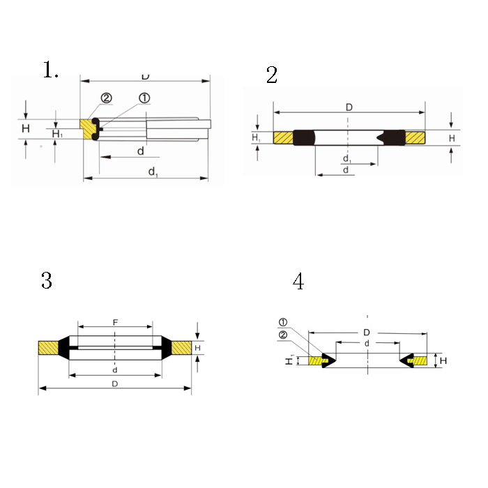 Iron and NBR Zinc Plating Seal Carbon Steel and NBR Copper Plating Washer Cylinder Head Rubber Bonded Gasket