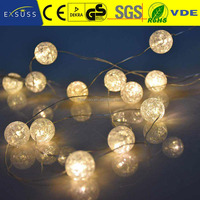 Night light craft, Holiday living decoration led mini artificial copper wire garland light