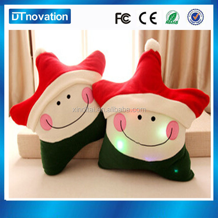 Funny Christmas Gift Electronic Colorful stuffed night light Plush Star Toy