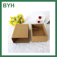 customized thick brown kraft paper drrawer gift boxes/jewelry and gift boxes