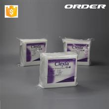 "9"" CLEXIA Nonwoven cellulose polyester white cleanroom paper wiper , magic cleaning wash cloth"