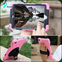 360 Full Degree Rotating Case with Hand Tether Strap case cover For iPad mini1/2/3 cases