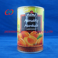 410g/820g/2500g/3000g Canned Apricots In Half In Syrup