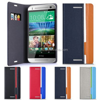 Luxury Flip Hybrid Color PU Leather Wallet Case Colorful Cover For HTC One mini 2