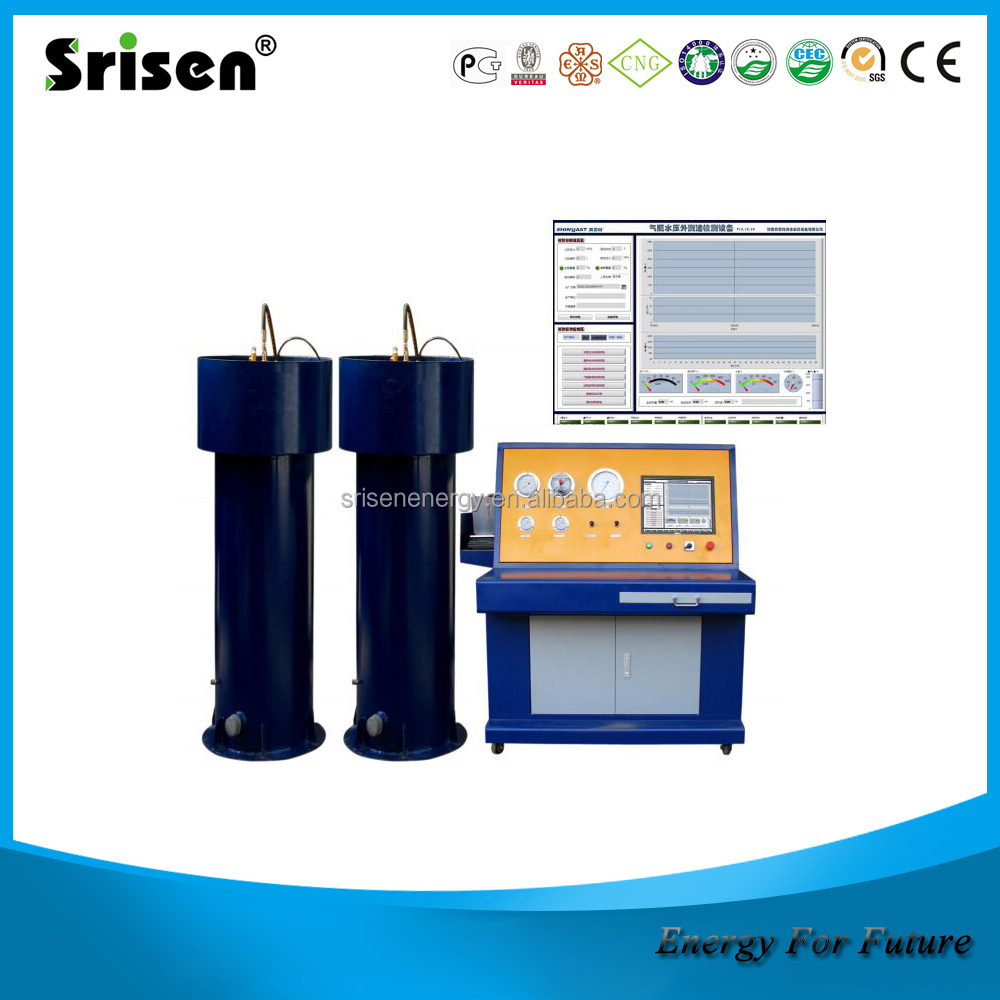Gas cylinder hydraulic testing machine , CNG cylinder inspection equipment,test machine