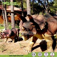 Outdoor Playground Realistic Animated Triceratops