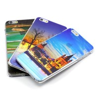 New products!!! 3D UV Print Simi-transparent Hollowed-out Design For iPhone 5 6 Plus Case