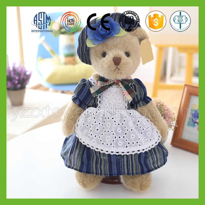 Wholesale hot popular good handmade stuffed soft peluches teddy bear