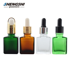 colorful essential oil glass bottle/square glass perfume bottle trade company 30ml square glass bottle