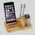 2017 best seller gift wholesale bamboo wooden funny cell phone holder for desk charging phone card holder stand for iphone ipad
