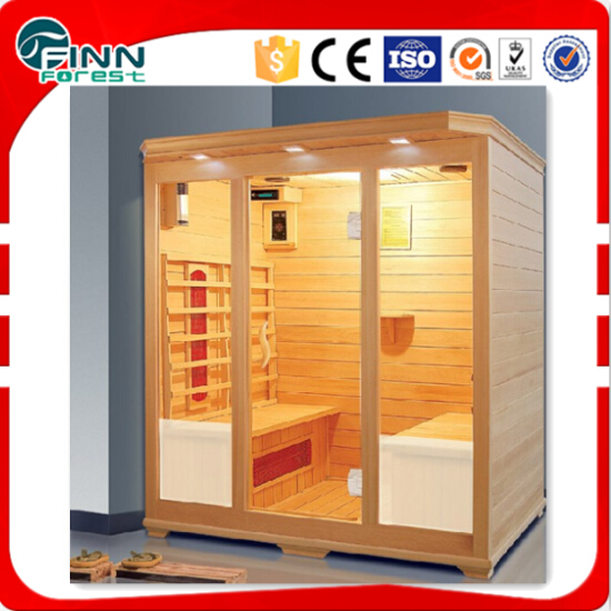 1-4 person suana room with sauna heater and other accessories