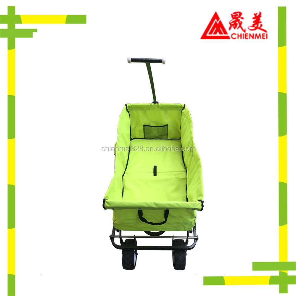 Focus on outdoor handcart with air tire