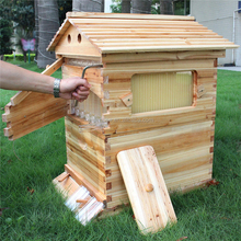 Langstroth Automatic Honey Free Flow Comb Beehive With 7 Self Flow bee Hive Frames