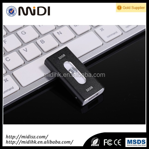 2017 micro Push-mode usb 3.0 card reader Metal otg For iphone otg usb flash drive 4GB to 128GB