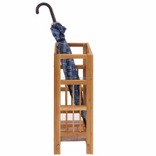 Natural Bamboo Umbrella Stand Rack Canes Alpenstock Holder for Home Office