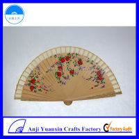 Wooden Folding Fan Promotion Printed Project