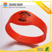 Silicone NFC Rfid Wristband with silk screen printing