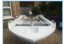 Dinghy 12ft welded aluminum fishing boat with outboard motor for sale