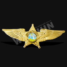 custom metal soft enamel pilot wings pin badge with different designs pin badge/custom metal pilot wings pin